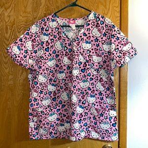 Hello Kitty Size Large Uniform Scrub Top